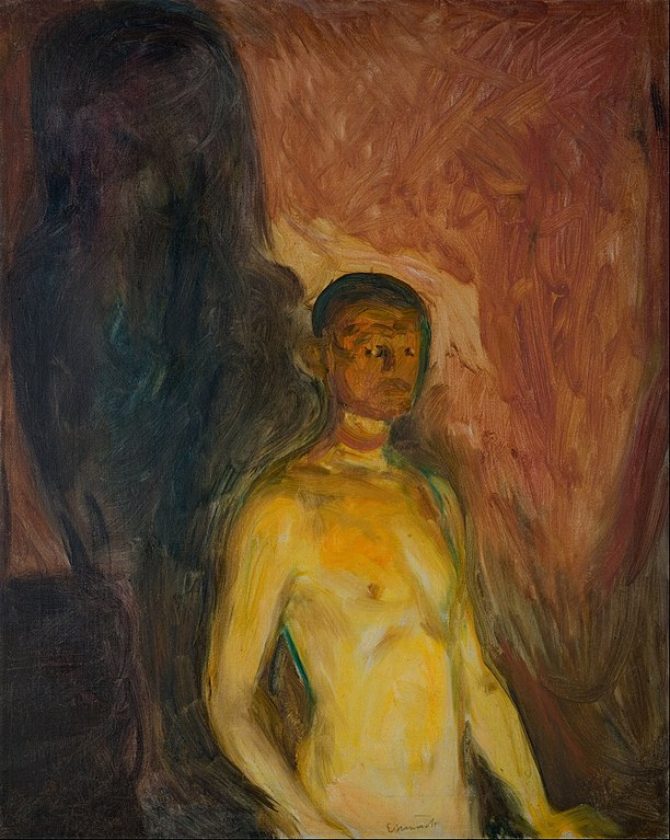 Edvard Munch Self-Portrait in Hell 1903