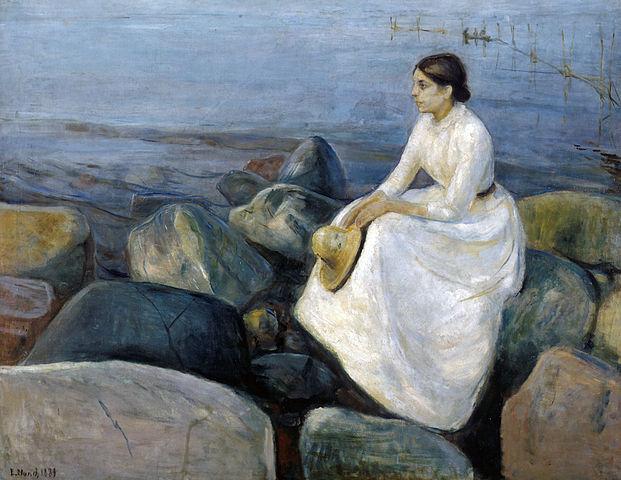 Edvard Munch Summer night, Inger on the beach 1889