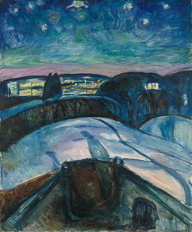 Edvard Munch Starry Night 1922-1924