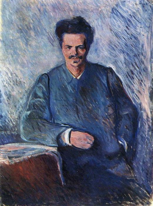 Edvard Munch Portrait of August Strindberg 1892