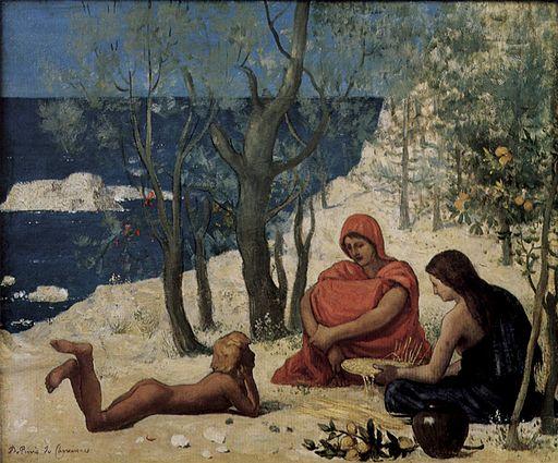 Pierre Puvis de Chavannes The white rock 1869–1872