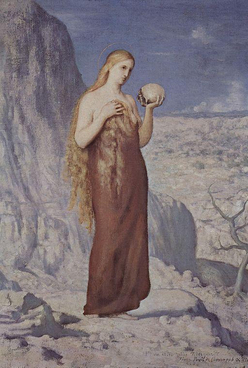 Pierre Puvis de Chavannes Mary Magdalene in the desert 1869