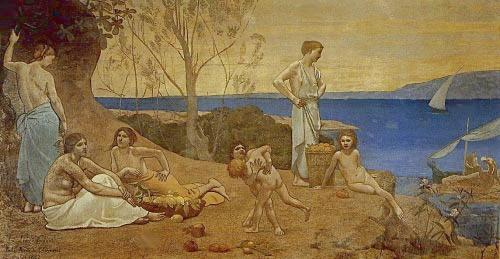 Pierre Puvis de Chavannes The Happy Land 1882