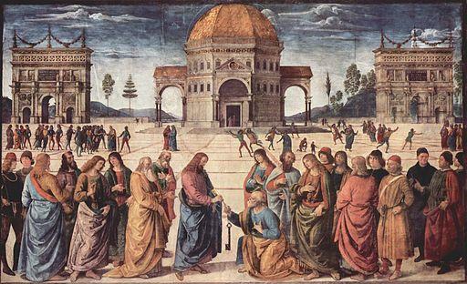 Pietro Perugino Christus übergibt Petrus den Schlüssel zum Himmelreich 1481-1482