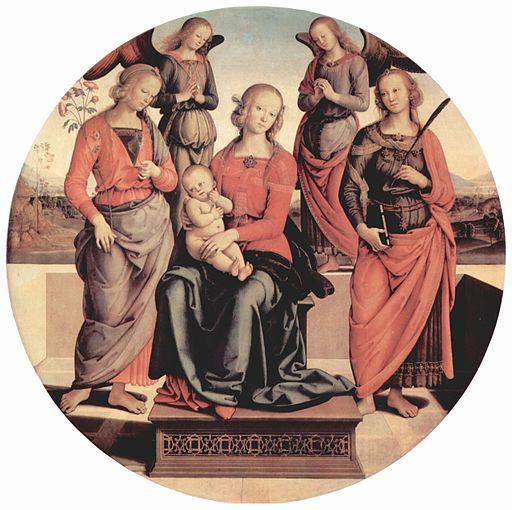 Pietro Perugino Thronende Madonna mit zwei Engeln, Hl. Rosa und Hl. 1492