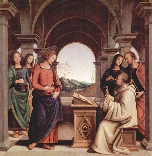 Pietro Perugino Vision des Hl. Bernhard 1493
