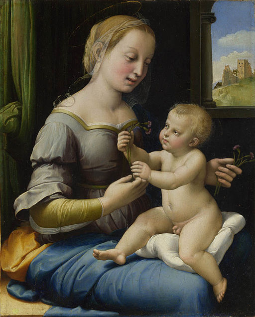 Raphael Madonna of the Pinks 1506-1507