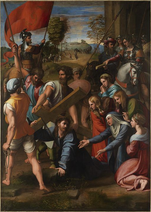 Raphael Christ Falling on the Way to Calvary 1517