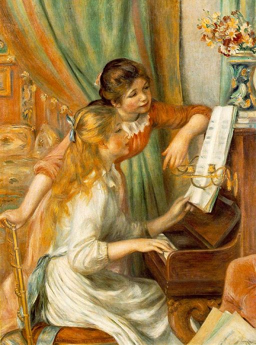 Pierre-Auguste Renoir Young Girls at the Piano 1892