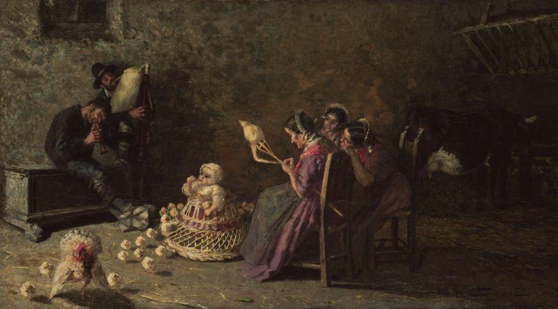 Giovanni Segantini Bagpipers of Brianza 1883-1885