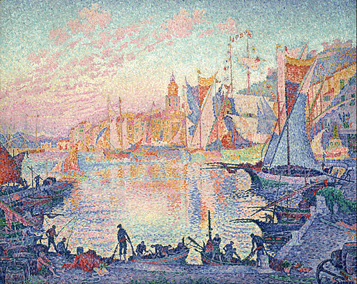 Paul Signac The Port of Saint-Tropez 1901-1902