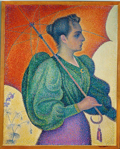 Paul Signac Woman with Umbrella 1893