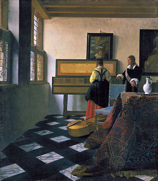 Johannes Vermeer The Music Lesson