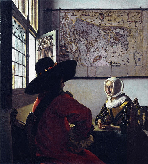 Johannes Vermeer Officer with a Laughing Girl