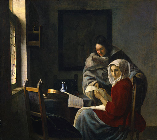 Johannes Vermeer Girl Interrupted at her Music