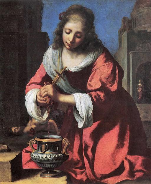 Johannes Vermeer Saint Praxedis