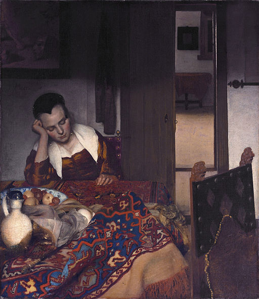 Johannes Vermeer A Girl Asleep