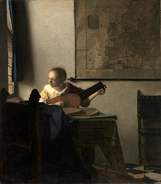 Johannes Vermeer Woman with a lute 1664
