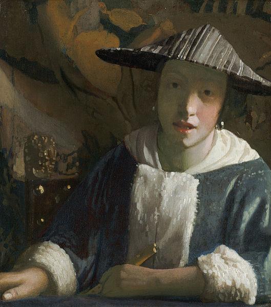 Johannes Vermeer Girl with a Flute 1665-1670