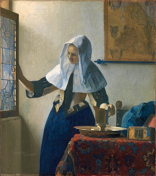 Johannes Vermeer Young Woman with a Water Pitcher. 1664-1665