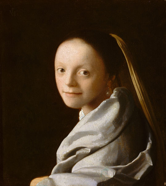 Johannes Vermeer Portrait of a Young Woman 1666-1667