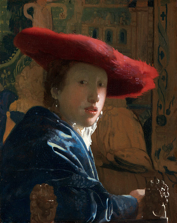 Johannes Vermeer Girl with the red hat 1665-1666