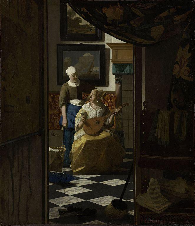Johannes Vermeer The Loveletter 1669-1670