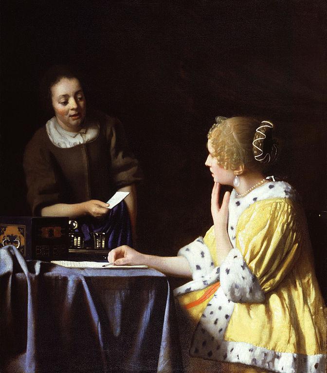 Johannes Vermeer Mistress and Maid 1667