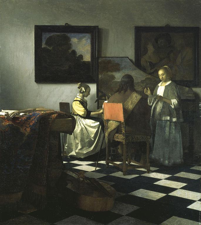 Johannes Vermeer The Concert 1665-1666