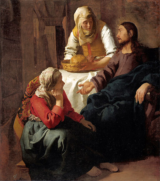 Johannes Vermeer Christ in the House of Martha and Mary