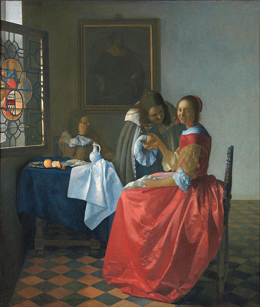 Johannes Vermeer The Girl with the Wineglass