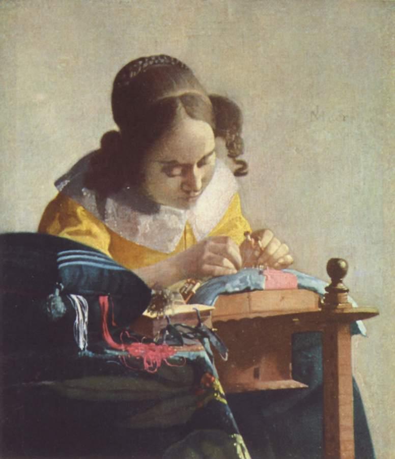 Johannes Vermeer The Lacemaker 1669-1670