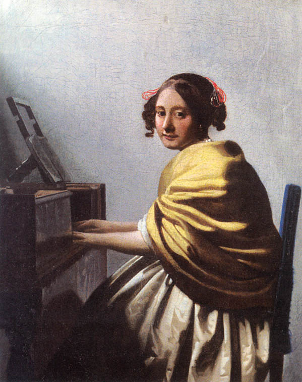 Johannes Vermeer A Young Woman Seated at the Virginals 1670