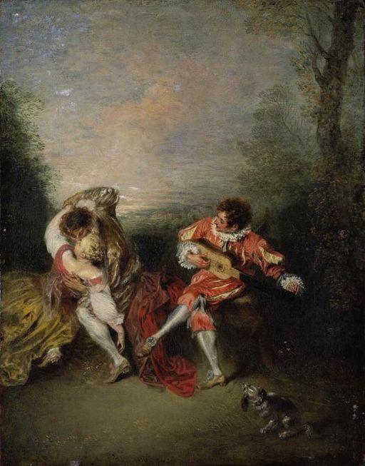 Jean-Antoine Watteau La Surprise