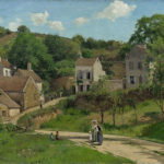 Camille Pissarro, the hermitage at pontoise (1867)