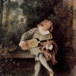 Jean-Antoine Watteau, A Mezzetino (1717-1719)