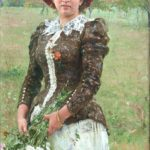 Ilya Repin, Autumn Bunch. Portrait of Vera Ilyinichna Repina, the Artist's Daughter (1892))